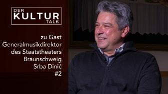 Generalmusikdirektor Srba Dinic im KulturTALK mit Sven-David Müller