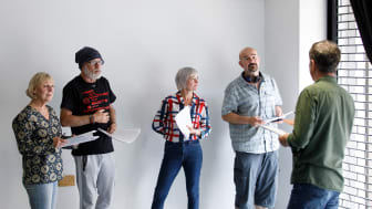 From You to Me rehearsals under way at Newcastle's Alphabetti Theatre..jpg