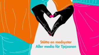 Aller media initierar hjälpmånad till förmån för kvinnor – upplåter sina kanaler till Tjejzonen