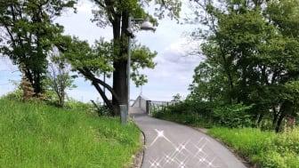 Nyasfalterad gångväg i Värtahamnen