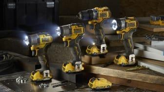DEWALTs nye 12V XR akku-serie er en unik serie bore- og skruemaskiner, som er små, kompakte og kraftfulde!