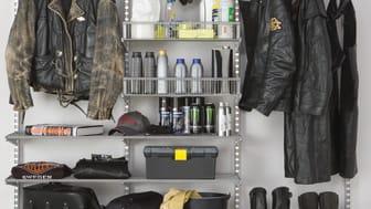 Elfa_Skab mere plads til din hobby med smart opbevaring i garagen.