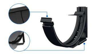 Lindabs nya krok KLK. En ställbar krok med ett enkelt klickmontage av hängrännan.