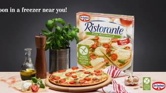 Glutenfrie varianter av pizza Ristorante er på vei inn i frysedisken!