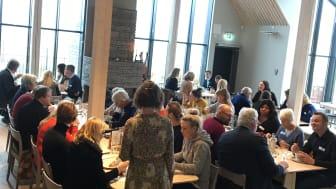 Ett 60-tal deltagare diskuterade hållbarhet och Hornborgasjön vid en utvecklingsdag. Foto: Maria Comstedt/Visit Hornborgasjön