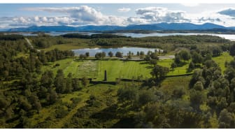 The Tjøtta International War Cemetery in Nordland county is one of the projects from Norway that will be on display from 8 February 2019 at the National Museum – Architecture. Photo Annar Bjørgli/Nasjonalmuseet