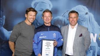 Mats Frank, Luleå SK. Här tillsammans med Jesper Blomqvist och Mikael Tykesson.
