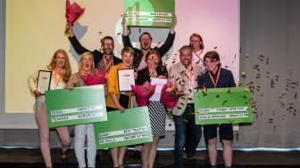 Gruppbild på samtliga regionala vinnare i Venture Cup Nord. Foto: Jenny Rehnman