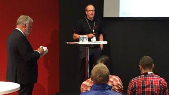 Lars Karlberg, ABB, påtalade vikten av att inte se roboten som ett hot mot jobben.