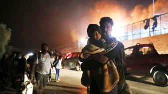 Branden i Moria gjorde att tusentals barn blev av med mat, mediciner och tak över huvudet. Foto: Giorgios Moutafis