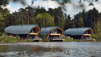 Waterside Lodge Exterior at Elveden Forest