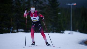 KLAR FOR EM: Åsne Skrede (Geilo IL) er blant de 12 skiskytterne som skal til EM i Polen. Foto: Christian Haukeli