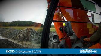 Att schakta med iX3D, Scanlasers grävsystem 3D/GPS