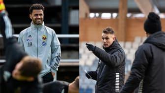 Amir Azrafshan, huvudtränare i Östersunds FK, och Daniel Bäckström, huvudtränare i IK Sirius, har båda läst tränarutbildningen vid Högskolan i Gävle. FOTO: Östersunds FK och IK Sirius