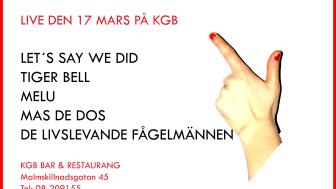 STOCKHOLMS PÄRLOR - på KGB torsdag den 17 mars