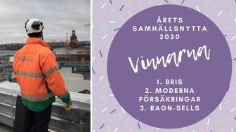 Ragn-Sells hedrande bronsplats i Årets samhällsnytta 2020