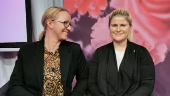 Ängelinvesteraren Anna-Lina Kvarnsmyr och Frida Sporrong, medgrundare och VD på Treeno