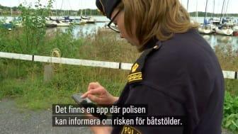 Båtbrotten minskar i Norrtälje - CoBoats stöttar polisens projekt