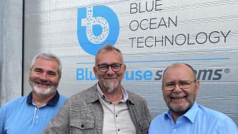 Fra venstre: Jan Henning Legreid (CS&TO i Blue Ocean Technology), Allan Ødegaard (Segment Manager Schneider Electric) og CEO i Blue Ocean Technology, Rolf Inge Longva.