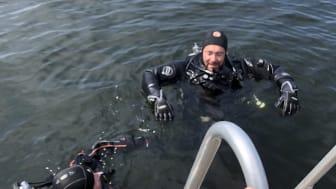 Disse dykkerne skapte et magisk øyeblikk for Gro Berit!