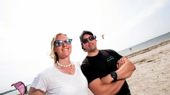 Julie og Chris Halland Foto Villa Surf garden 1
