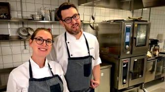 Charlotte Holm Brodersen och Michael Hallström tog initiativ till klimatveckan och jobbar som måltidsutvecklare i Eslövs och Höörs kommuner.