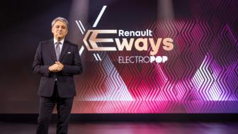 Luca de Meo - Renault eWays Electropop digitala presskonferens
