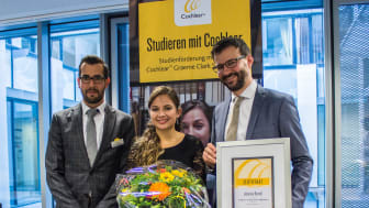 Johanna Rentel erhält Cochlear Graeme Clark Stipendium 2018 (Foto: Cochlear Deutschland)
