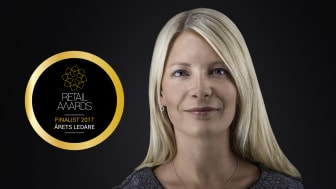 Susanne Ehnbåge, vd NetOnNet AB, stolt finalist som Årets Ledare 2017 i Retail Awards