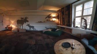 Skogsgläntan - så fick det nya dagrummet heta, och precis så känns det när man kliver in i rummet.