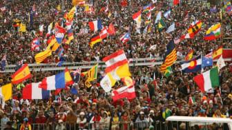 Bild från när Världsungdomsdagen hölls i Sidney