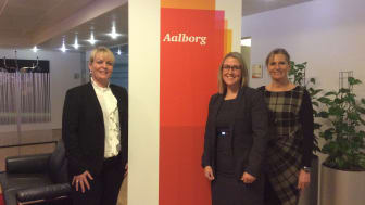 Fra venstre: Senior manager i PwC, Mette Krog,  Louise Rostbøll Hald Pedersen, nyansat Consultant og Marianne Fogh Jørgensen, partner i PwC