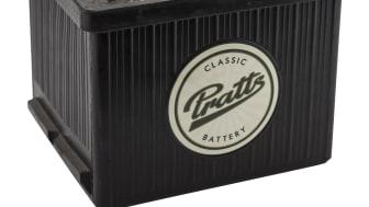 Design som integreras med klassiska bilar från 50- och 60-tal. De nytillverkade bakelitbatterierna är den senaste nyheten från Verktygsbodens Pratts-sortiment.