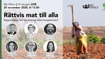 Pressinbjudan: Rättvis mat till alla - hur ska Sverige möta den globala hungerkrisen?