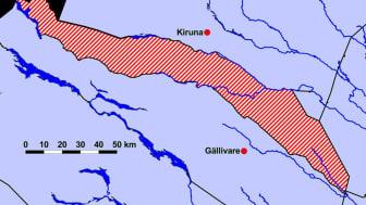 Karta över det aktuella området.