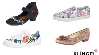 Blomstrande vår för bekväma skor
