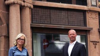 Nina Riibe, administrende direktør i Econa og Tore Vamraak, ny sjeføkonom i Econa