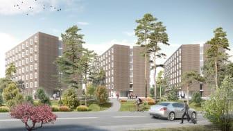 Akademiska Hus bygger bostäder för 400 forskare och studenter på Campus Solna