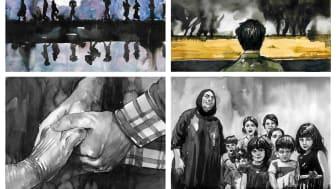 Illustrasjoner Shwan Dler Qaradaki, Den tatoverte solen (2020).jpg