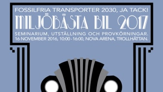 Hela gröna vägen - Fossilfria Transporter 2030, Ja tack! - Miljöbästa Bil 2017