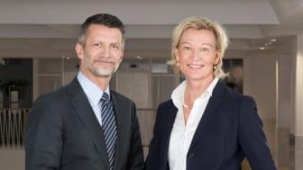 Urban Englund, styrelseordförande Praktikertjänst, och Carina Olson, vd och koncernchef Praktikertjänst.
