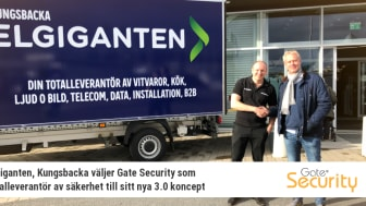Elgiganten, Kungsbacka väljer Gate Security som totalleverantör av säkerhet till sitt nya 3.0 koncept
