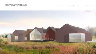 Konsthall Tornedalens nya hemsida har starkt fokus på bra bildmaterial som kan visualisera planerna.