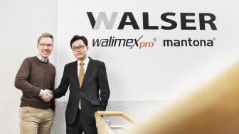 Xiaoming Zhan (GF Shanghai Transvision) und Niclas Walser (GF WALSER GmbH & Co. KG) arbeiten eng zusammen.