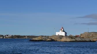 Kystledhytta Homlungen fyr i Ytre Hvaler nasjonalpark (Foto: Oslofjorden Friluftsråd)