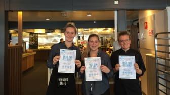 De første sertifiserte Hemsedal World Class Service medarbeiderne i Hemsedal. F.v. Bolette Rud Hauser, Frida Johansson, Louise Hannesbo.