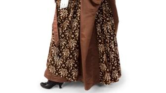 Ebba von Eckermanns dagklänning i brun sidensammet, 1885