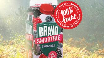 """Vår senaste nyhet """"Skogsbär"""" består endast av 100% frukt och bär, utan tillsatt socker eller andra tillsatser."""