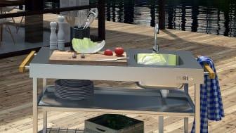Purus Garden utekök i rostfritt stål - Snygg design och smarta fördelar