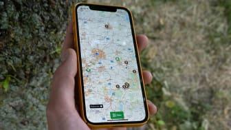Naturkartan finns både för mobil och dator